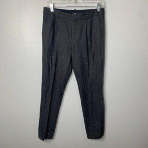 Madewell Gray Pleated Ankle Pants